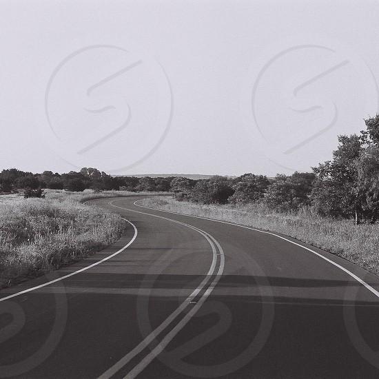 Curves ahead. Film 35mm  photo