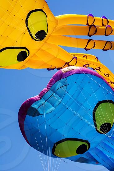 Kites And Sky At Berkeley Kite Festival July 2014 photo
