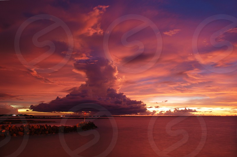 mind blowing cloud at the sunset in darwin photo