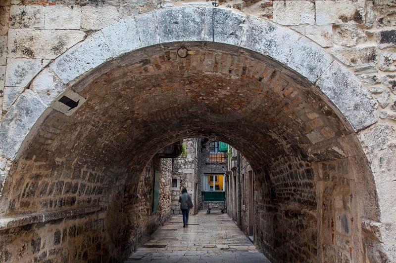 A stroll through the arches and paths inside the Palace walls in Split. photo