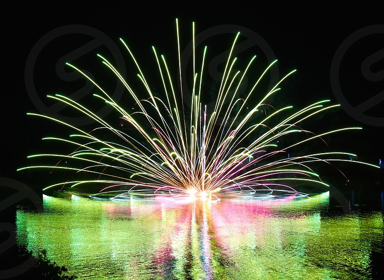 Reflection (5) : 'Fireworks on Water'  photo