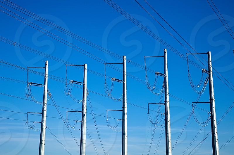 Power poles lines photo