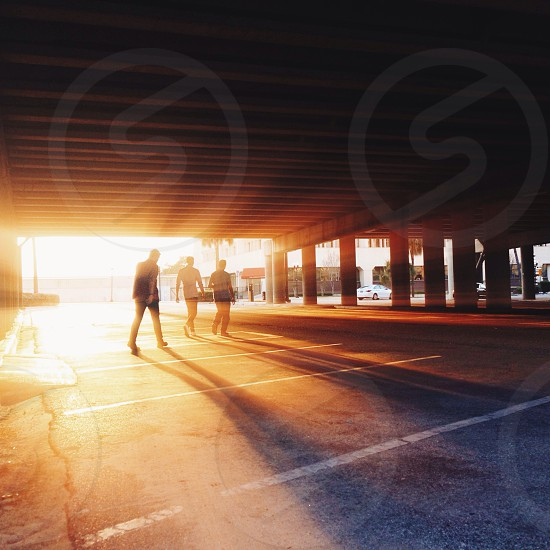 3 man walking silhouette sunset view photography photo