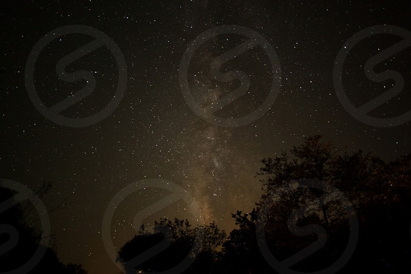starry night view photo