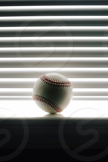 white baseball  photo