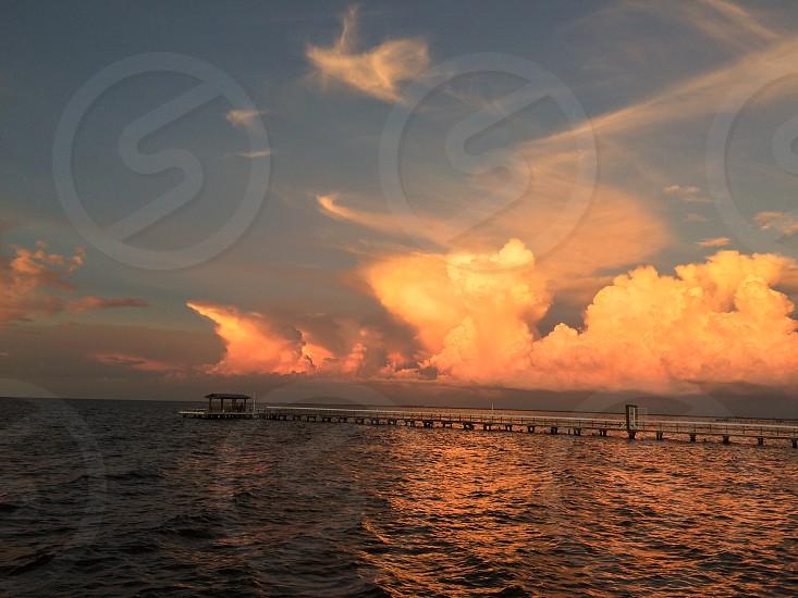 Sunset over Charlotte Harbor Bokeelia Island Florida  photo