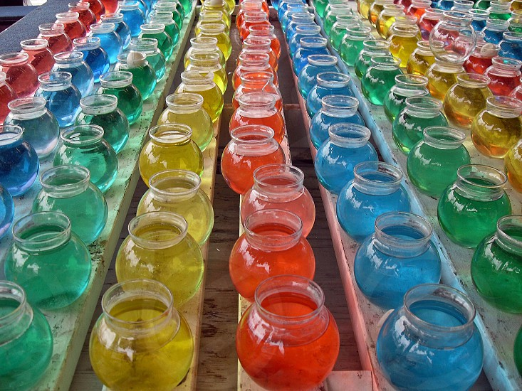 clear glass jars photo