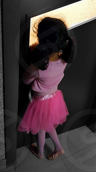ballerina dancing girl ballet tutu pink skirt child happy shildhood fun clothes fashion dance workout  photo