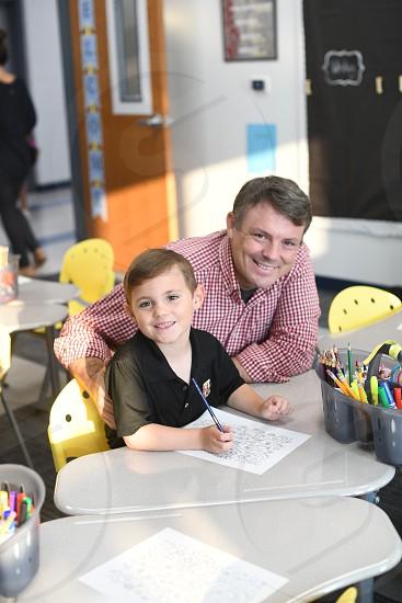 School school work helping child parent photo
