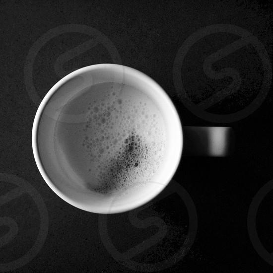 milk on mug photo