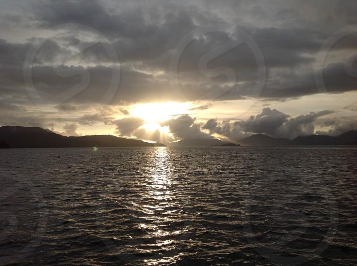 Ocean dawn photo