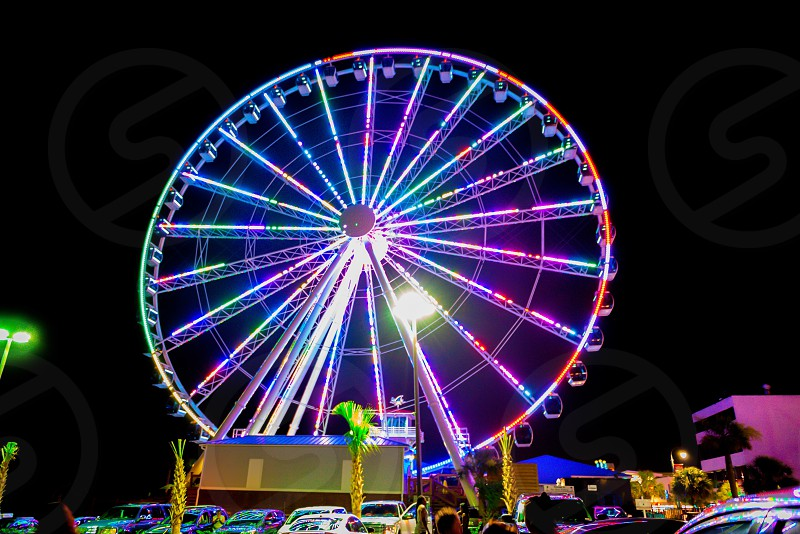 multicolored ferris wheel at nighttime photo