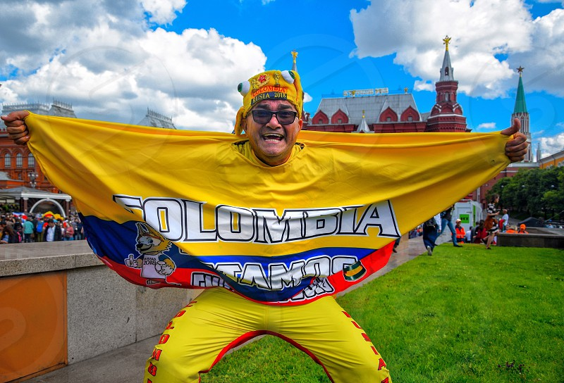 Colombia fan in Moscow FIFA 2018 photo
