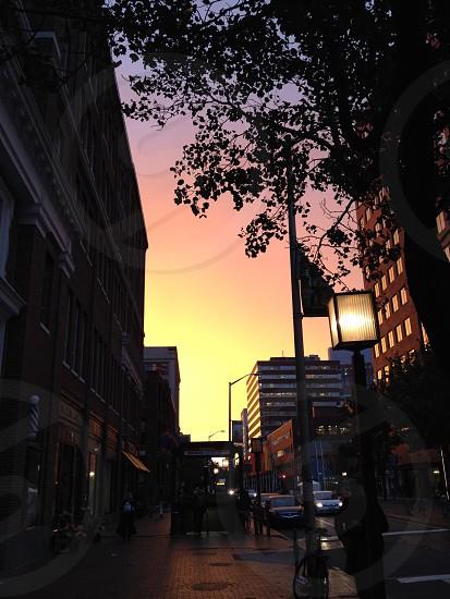 Sunset in Cambridge photo