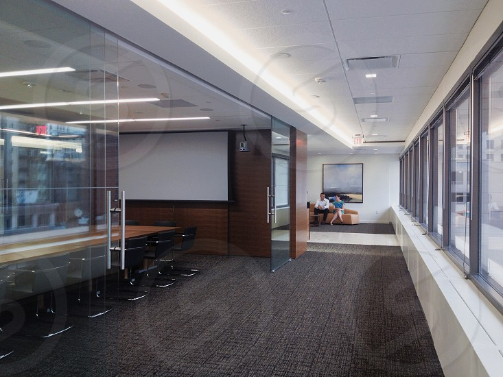 Modern office. Reception area & conference room photo