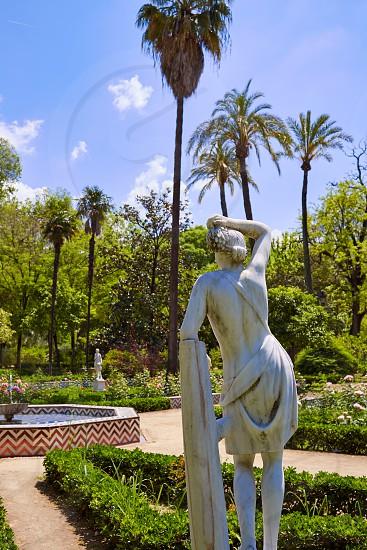 seville maria luisa park gardens in andalucia spain photo