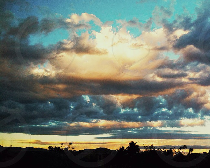 grey sky photo