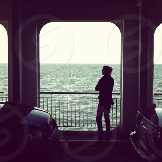 Ferry ride back to Vancouver from Vancouver Island. Female; travel; Pacific. photo