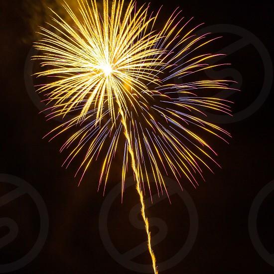 Fireworks July fourth celebrate freedom photo