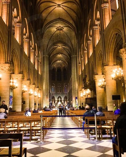 Notre Dame de Paris Paris France Church monument landmark faith family  photo