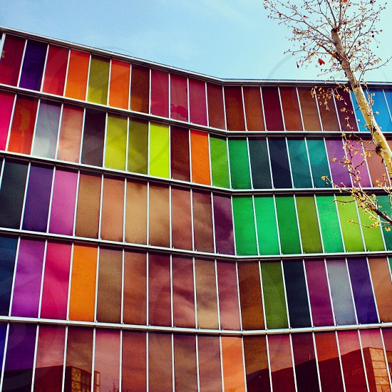 MUSAC León España  #colors #colorful #windows #architecture photo