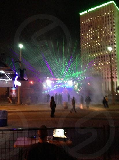 Laser Light Show at Galveston TX Mardi Gras photo