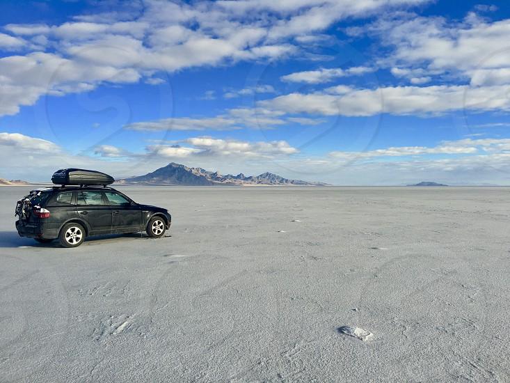 Bonneville Salt flats Utah photo