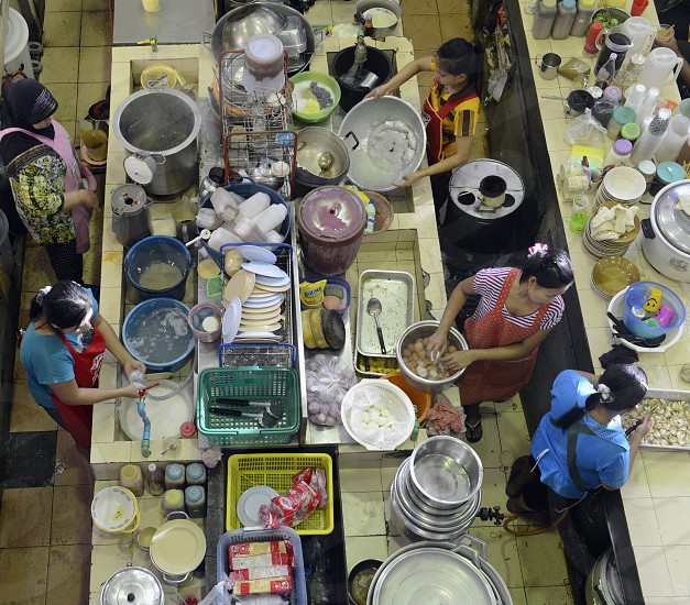 a reataurant at the day Market in the city of Phuket on the Phuket Island in the south of Thailand in Southeastasia. photo