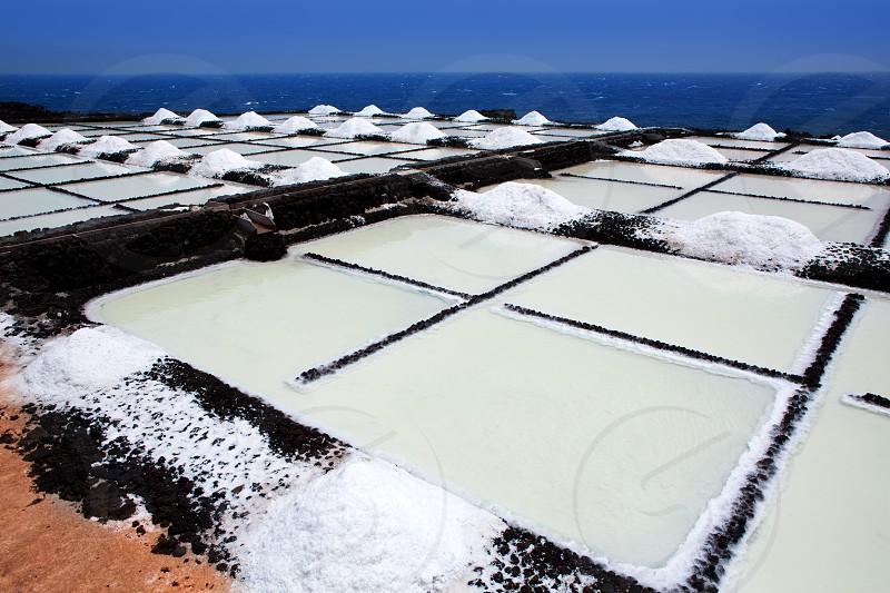 La Palma Salinas de fuencaliente saltworks in Canary Islands photo