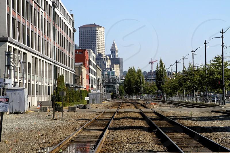 steel rail road photo