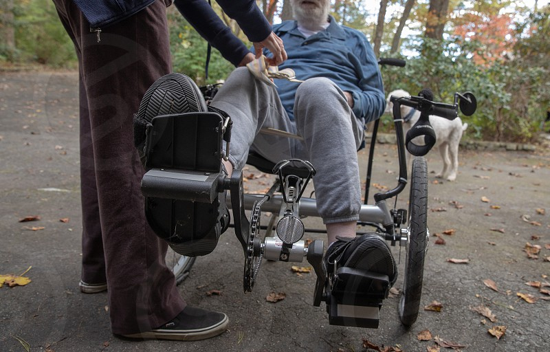 Disabled handicapped senior citizens and mobility photo