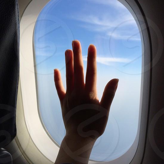 hand on window photo