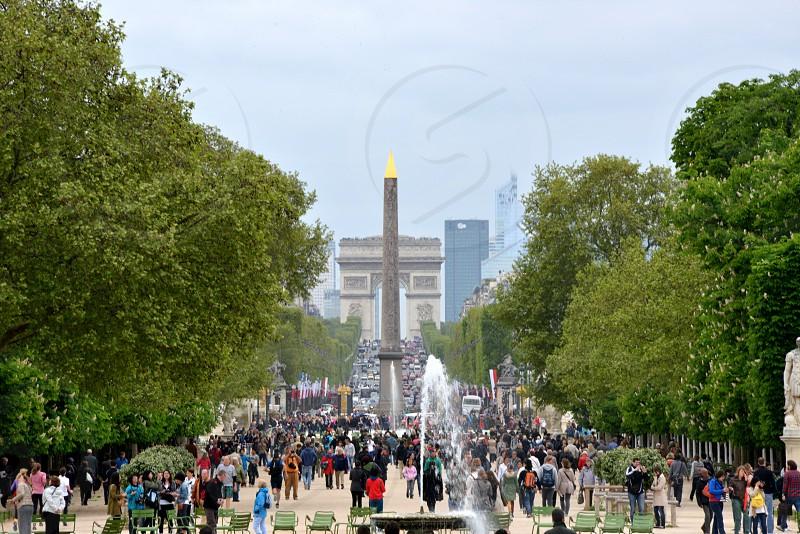 Champs Elysses Paris France. photo