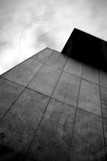 Concrete panel and the sky photo