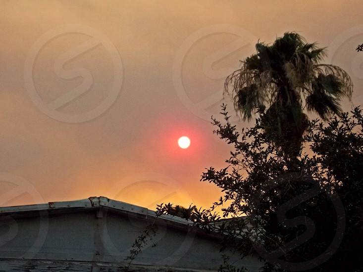 Smoke in the sky photo