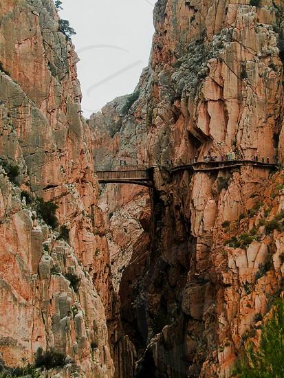 dangerous bridge in Malaga's mountains photo