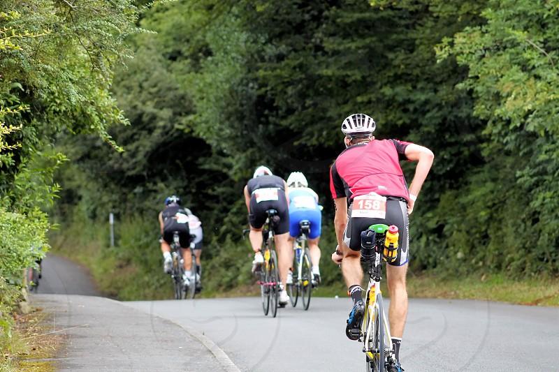 bicycle race riderscontestants photo