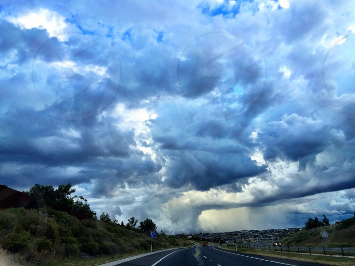 Storm on the Geelong Road  photo