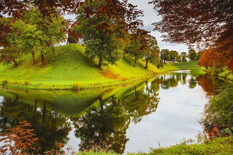 Landscape of the fortified park Kastellet in the center of the City of Copenaghen photo