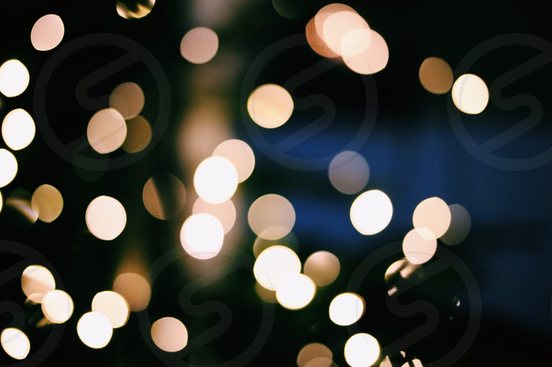 Circles lights electric lights Christmas lights night background  bokeh light and darkness photo