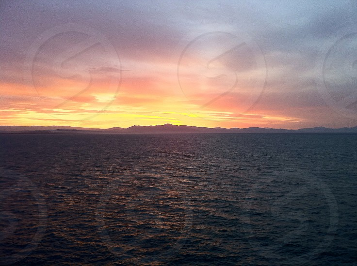 Sunset over the Mediterranean  photo