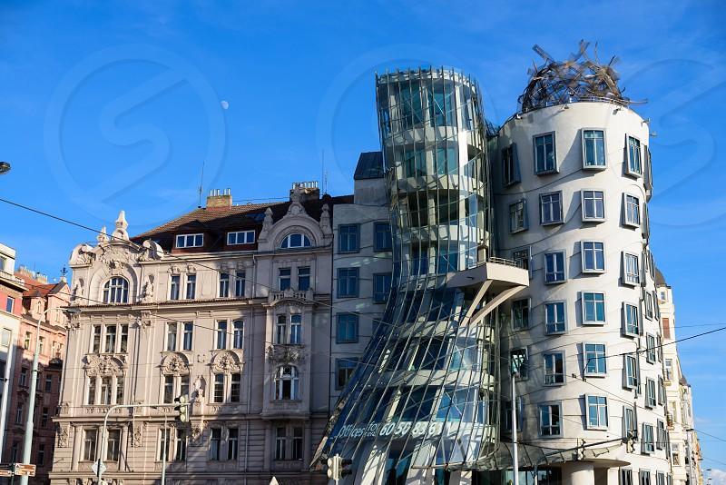 Dancing house in Prague Czech Republic.  photo