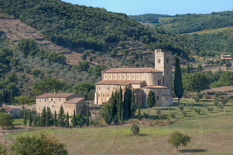 The Abbey Sant'Antimo just outside of Montalcino Italy photo