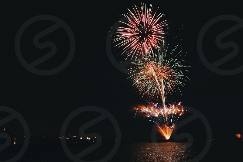 view of fire works photo