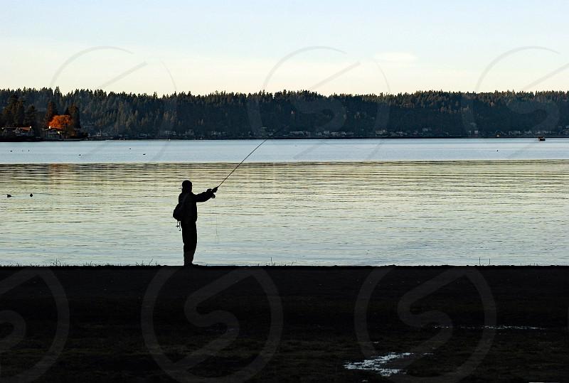 outdoor nature fishing camping lake life style photo