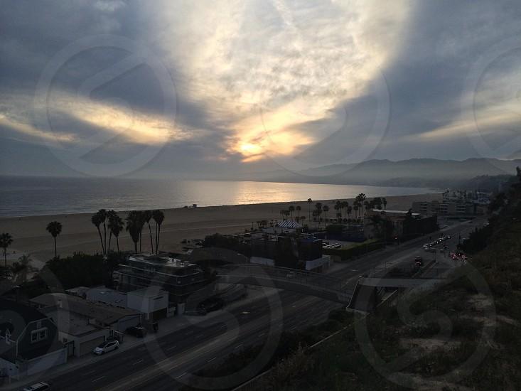Sunset over Santa Monica  photo