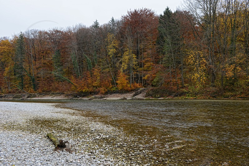 Isar river next to Pullach in Bavaria. Near Munich. (Germany) photo