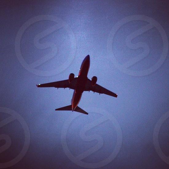 red airplane photo