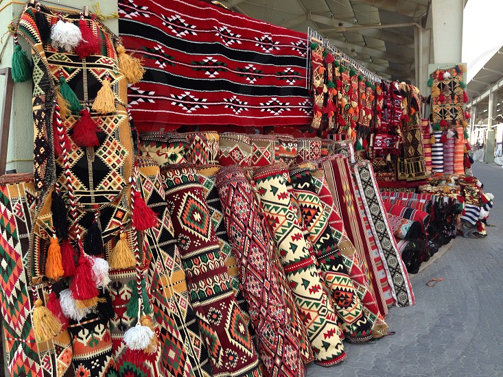 LisAm the Market design motifs print carpet rugs colourful  photo