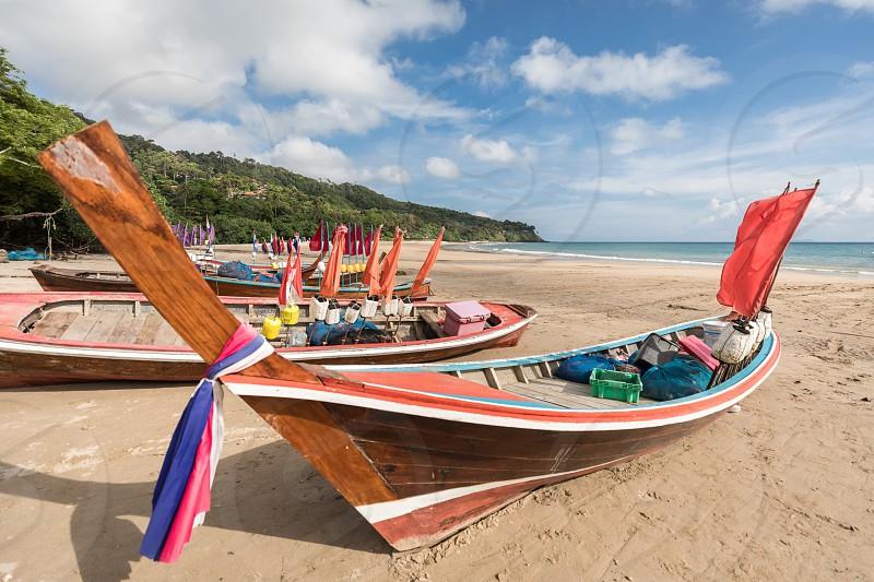 Beach Thailand koh lanta boot fisher boat sun holiday photo